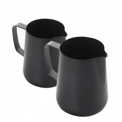 Black Teflon Coated Milk Jugs